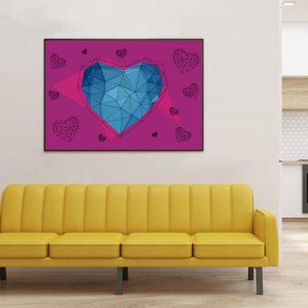 127_geo – Abstract Purple Heart