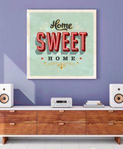 2_retro - Placa Home Sweet Home